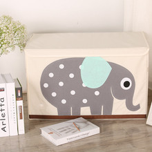 Cartoon folding children's toys square storage box Large storage box Finishing box