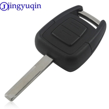 jingyuqin 2 Buttons Uncut Blade Car Remote Key Cover Case Shell Flip Fob Case Blank For Vauxhall Opel Vectra Astra For Omega(China)