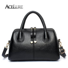 ACELURE Women Fashion Pu Leather Bag Luxury Women Boston Bag Casual Ladies Handbag Shoulder Bags European Style Female Tote Bag