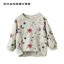 Spring Girls Sweater Children's Sweatshirts Casual Kids Velvet Tops Costume Long Sleeve T-shirt Jerseys Baby Kids Clothes(China)