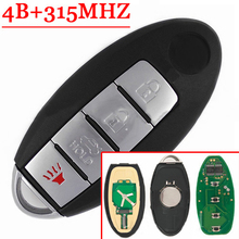 4 Buttons Remote Key For Nissan Altima Maxima Sentra 350Z Teana 2005-2008 315MHZ Chip ID46