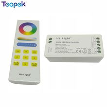 Mi.light FUT044 RGBW 15a AUTO-SYNC function LED Controller + FUT088 RGB+CCT Full Touch Remote(China)