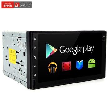 Junsun coche dvd 2 din gps universal android 6.0 quad core 16 gb con gps bluetooth de micrófono estéreo de audio jugador