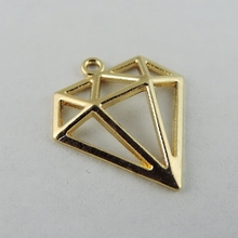 40pcs/pack Rose Gold Color Hollow Triangle Alloy Charms Necklace Pendant  Women Charms jewelry findings Handmade Crafts 38930