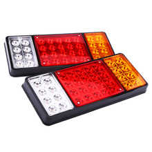 1 pair 12V 36 Tail Brake Light LED Tail Lights Rear Brake Lamp Stop Turn Indicator For Car Truck Trailers Van Reverse Indicator(China)