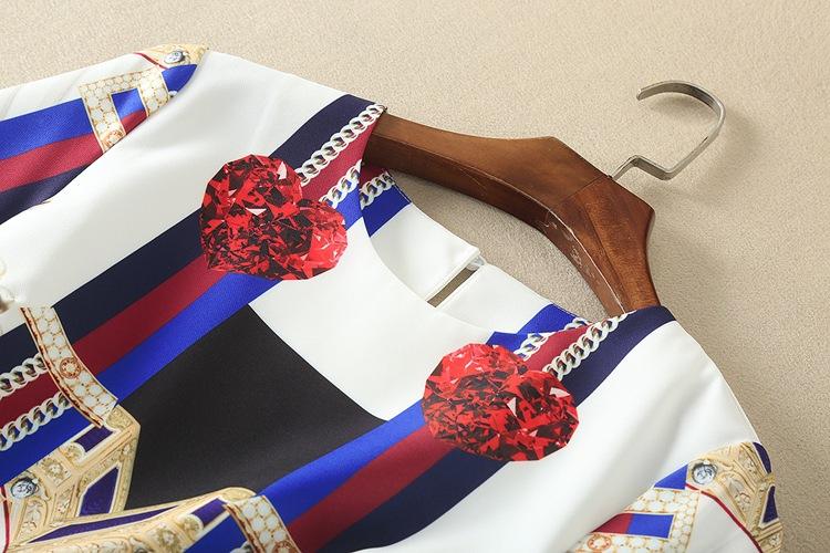 High Quality 17 Designer Runway Suit Set Women's Two Piece Casual Tops + Fashion Print Mid Calf Pants Set suit Free DHL Aramex 13