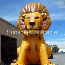 Customized full printed oxford outdoor cartoon character giant inflatable lion inflatable animal model for advertising
