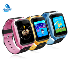 1.44' Touch Screen Smart GPS LBS Tracker Location SOS Call Remote Camera Monitor Flashlight Kids Child Watch Wristwatch PK Q750