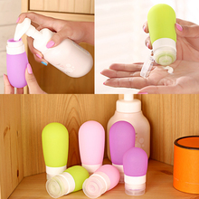 Portable Mini Silicone Bottle Traveler Packing Press Bottle Refillable Bottles for Lotion Shampoo Bath 38ml 60ml 80ml A2