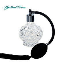 Crystal Art Decor Vintage Style Perfume Spray Bottle Atomizer Refillable Glass Bottles Star Sharp Home Decoration