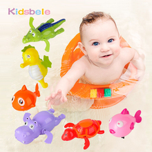 Baby Wind Up Toys Bath Toys Lovely Turtle Fish Shark Hippo Clockwork Chain Animal Swimming Toys Kids Bathtime toy Classic Toys(China)