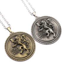 H&F Game of Thrones Necklace The Song Of Ice And Fire House Lannister of Casterly Metal Coin Pendant Chocker Cosplay Accessories(China)