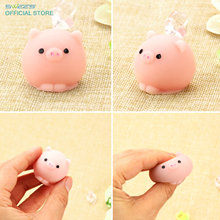 2017 New Arrival ushihito Kawaii Animal Pig Squishy Soft Slow Rising Mini Mochi Phone Strap Squeeze Bread Cake Bun Kids Toy Gift