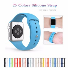 Colorful Rubber strap With Wrist Adapter Sport Silicone Bracelet watchband For Iwatch Series 1 2 Apple Watch band 38mm Women