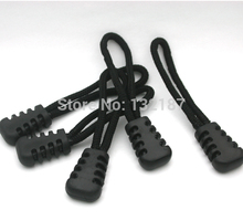 100pcs/lot slip-resistant black zipper puller black plastic puller for apparel luggage bag sportwear free shipping 007(China)
