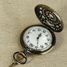 2017 Vintage Bronze Tone Spider Web Design Chain Pendant Men's Pocket Watch Gift Portable And Stylish Design Wholesale A7010