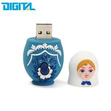 16GB USB Flash Drive USB 3.0 Memory Stick Storage Device U Disk Matryoshka Small Cute Doll Russian Style For PC Tablet Computers