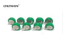 10pcs/lot 1.2v 80mAh NI-MH rechargeable battery button cell coin cell battery pack Free shipping(China)