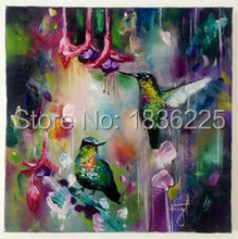 top sales pictures on the wall of the living room wall canvas oil painting of landscape painting flower and birds painting(China)