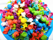 Plastic Monster Sucker Dolls kids Animal Cupule Suckers Action Figure Toy Suction Cup Collector Capsule Model Puppets 500Pcs/lot(China)