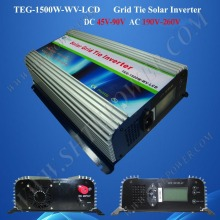 micro solar power inverter 1500w pv grid tie inverter dc 48v to ac 220v with lcd display(China)