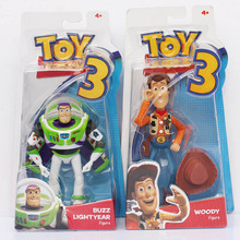 2Styles Selectable Toy Story 3 Woody Sheriff + Buzz Lightyear PVC Action Figure Toys Free Shipping(China)