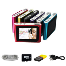 BGreen 8GB LCD Screen Clip Mp3 Player With FM Radio Support 32GB Micro SD/TF Including Headphone Mini USB Cable(China)