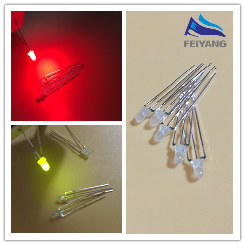 100Pcs Super Bright Diffused Led 3Mm Red Color Red Light Ic New wq