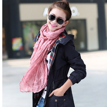 Echarpe 170*45cm Women Scarves Cachecol Feminino 2017 Brand Fashion Casual Foulard All-match Solid Soft Cotton Long Scarf(China)