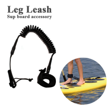 coiled sup board paddle surf board leg leash rope for sup surf board surfboard stand up paddle board rope surfing accessory
