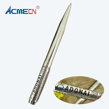 ACMECN Unique Design Silver Ballpoint Pen Etching Pattern ODM logoPen for Retail Shop Pen & Pencil Supplier Embossing Letter Pen