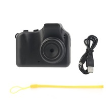 Mini Small Counter Design Camera Fashionable Wearable Style High Definition Image Camera For PC Black