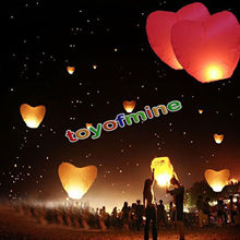 1/4pcs Heart shape wedding air Balloons Sky Lanterns Chinese globos Wish paper lanterns for party decorations