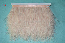 new! 8-10 cm / 3-4 inches ostrich feather trimmed ostrich feather fringe 1m / lot apparel fabric production processes -014