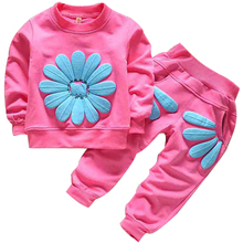 Baby Girls Clothes Kids Clothing set Christmas Clothes Long sleeve T shirt+Dot pants cotton Casual set 2pcs Baby wear(China)