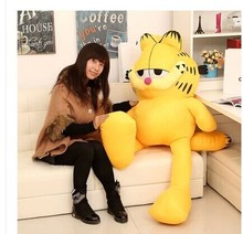 Stuffed animal 130 cm Garfield cat plush toy doll high quality gift present w1265(China)