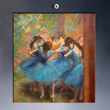 ART POSTER EDGAR DEGAS Blue Dancers C1890 CANVAS print WALL OIL PAINTING(China)
