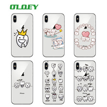 Buy OLOEY Funny Cartoon Dentist Dental Crowned Teeth Soft Phone Case Coque Fundas iPhone 7 7Plus 6 6S 6Plus 5S 8 8Plus X SAMSUNG for $1.39 in AliExpress store