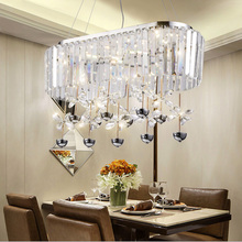 2017 New Rectangular LED contemporary chandelier living room lamp luxury crystal lights LED light Home Lighting Ceiling Lamps