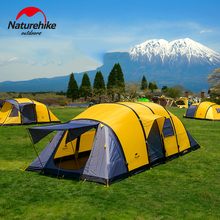 NatureHike Large Capacity 3-6 Person Tent Double Layer Inflatable 4 Season Camping Hiking Tent Outdoor Activities Group Tents