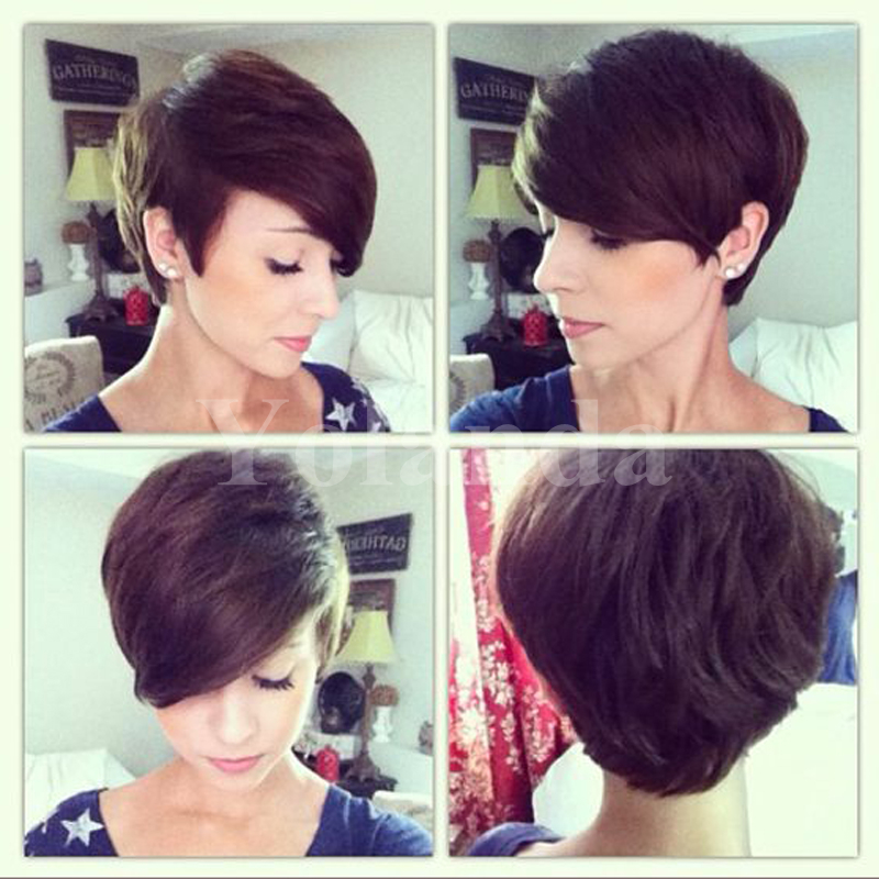 Short Full Lace Human Cut Hair Wigs With Bangs Virgin vietnamese Glueless Human Short Hair Lace Front Wig For Black Women<br><br>Aliexpress