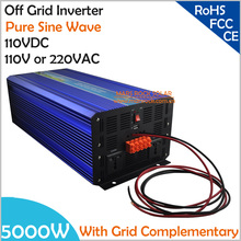 5000W DC110V Off Grid Pure Sine Wave Solar or Wind  Inverter, City Electricity Complementary Charging Function with LCD Screen