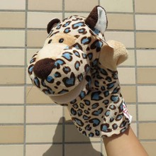 NICI Story game toy cartoon animal panther Money Leopard hand puppets plush sleeping pacify educational stuffed baby gift 1pc