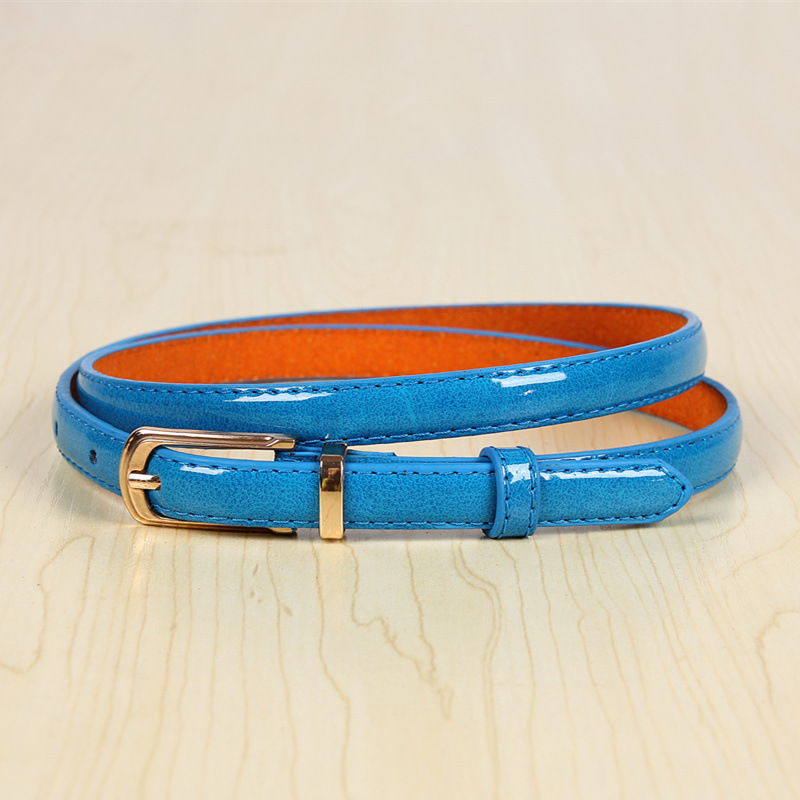 17 New Girls Black White Blue Yellow Brown PU Waist Belt Female Fashion Womens Leather Waistband Belts for Jeans Wholesale 7