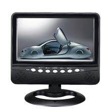 Brand New A Grade DC 12V 7inch Portable TV Color TFT LCD Display, LED Backlight TV With AV TFT In & Out , USB , SD for Car