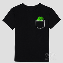 Custom Shirt Printing Pepe in your Pocket Men's Leisure Short Sleeve Cotton Shirt Big Size