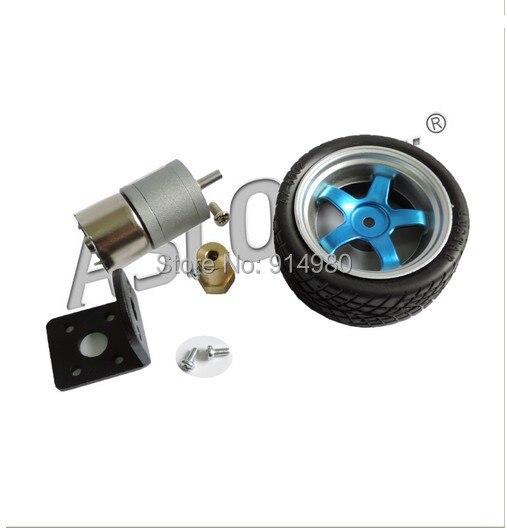 310-7.8kg.cm Toy Model 6V 153RPM Geared Motor Smart Car Kit - gear motor + bracket + coupling + wheels, toys, model aircraft<br><br>Aliexpress