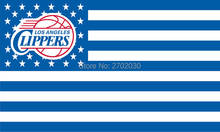 Los Angeles Clippers Basketball Team Flag Banners 3*5FT Sports Fan 100D Polyester With Metal Gromets White Sleeve