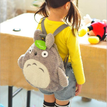 PECKHAMRYE backpack for kids baby's bags Green Leaf Backpacks Cute Totoro School Book Bags Plush Christmas Festival Gift(China)