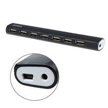 7 Port High Speed USB 2.0 Hub + Power Adapter For PC Laptop Computer 2015 Hot Sale Led HUB  Free Shipping &Wholesale